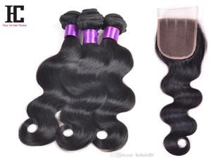 Üst 7a Perulu Bakire Saç Vücut Dalga Kapatma ile 3 Demetleri Rosa Saç Ürünleri Demetleri ile Ucuz Kapatma Insan Saç Uzatma HC Saç