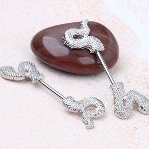 Schlange Silber Nipple Shield Ring Piercing Schmuck 14g Großhandel Körper Frau Modeschmuck