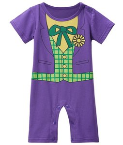 Baby Boy Clown Funny Costume Romper Infant Toddler Short Sleeve cotton Jumpsuit Summer Halloween Party Playsuit Toddler Halloween Cos