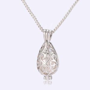 Pendentif en forme de perle d'eau douce naturelle pendentif en argent sterling 925 plaqué en forme de goutte avec pendentif en forme de perle d'huître pour les femmes