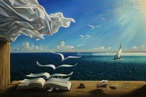 Encadré Vladimir Kush, Journal, Peinture à l'huile sur toile abstraite de haute qualité Pure peint à la main célèbre Art abstrait sur diverses tailles Livraison gratuite Ab093