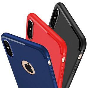 Caramelo del color sólido a prueba de golpes de goma suave de TPU del gel de silicona caso de la cubierta ultra delgada esmerilado Mate para iPhone 11 Pro Max XS XR X 8 7 6 6S Plus