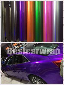 Verschiedene Glanz Candy Metallic Vinyl WRAP ganze Auto Wrap Abdeckung mit Luftblase frei Low Tack Kleber 3M Qualität 1,52x20m / Rolle (5x65ft Rolle