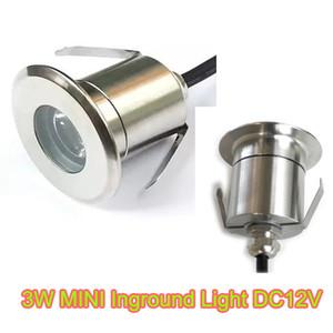 DC12V 1W 3W CREE Mini Up Светодиодные фонари внутри помещений Светодиодные фонари на палубе Открытый светодиодный мини-подземный свет Комплект Сад лампы