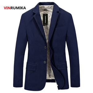 En gros-2017 printemps hommes mode casual marque manteau blazer automne homme 100% pur coton blazers bleus manteaux gentry costumes slim veste S-4XL