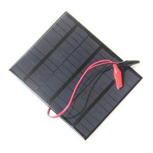 새로운 3.5W 18V 미니 태양 전지 다결정 솔라 패널 + 악어 클립 Diy 솔라 시스템 12V 배터리 충전기 165 * 135MM 무료 배송