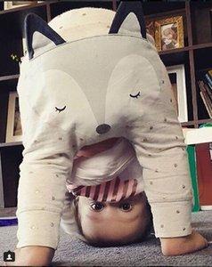 2016 новый мультфильм Baby FOX брюки осень-весна милый животных Ploka точек мальчиков длинные брюки шаровары малыша PP брюки