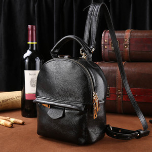 2017 high quality Top Genuine leather leisure shoulder bag brand of backpack the European and American fashion