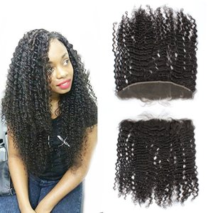 8A From Ear To Ear Brazilian Lace Frontal Closure 13x4 Curly Hair Lace Frontals Bleached Knots Full Lace Frontal With Baby Hair