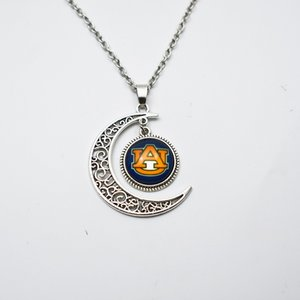 NCAA Auburn Tiger Team Sports Colar Pingente encanto jóias rodada 16 milímetros de vidro Tempo Gem para fãs de esportes Colar Pingente