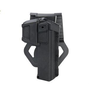 PPT Holster mobile Tactical Gun Pistol Holster Belt Gun Protezione fondina vita per G17 19 Caccia BK DE CL7-0057