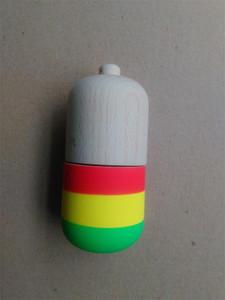 20 pcs Forma de Pílula de borracha Kendama Bola Brinquedo Engraçado Bahama Tradicional Madeira Jogo Toy Skills copo Kendama Bola Crianças Brinquedo Educativo Brinquedo Adulto