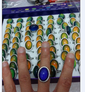 Moda yüksekliği kaliteli Büyüleyici Büyük oval ruh yüzükler renk değiştiren yüzük Kadın moda açılış yüzük 100 adet / grup