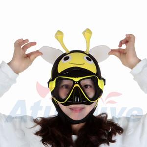 4 ملليمتر الدافئة sbr الغوص الكرتون قبعة جميلة الكرتون النحل الغوص هود الغواصين كاب خوذة الكبار قبعة السباحة custome