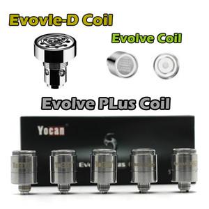 Auténtica Yocan Evolve Plus bobina Evolve Evolve-D Bobinas Bobinas QDC cuarzo doble bobina E bobinas de repuesto para cigarrillos Yocan vaporizador