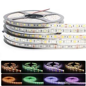 5050 LED قطاع RGBW DC12V بقيادة مرنة ضوء RGB + أبيض / أبيض دافئ أضواء قطاع الملونة 5M 300LEDs 60Leds / m