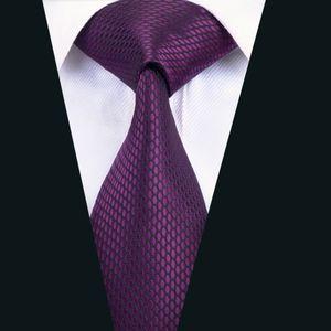 Corbata de Seda clásica Púrpura Sólido Corbata de Alta Calidad Para Hombre Corbatas Jacquard Woven Business Wedding Meeting Party Envío Gratis D-1436