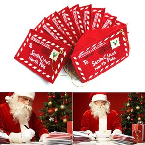 To Santa Claus Red Christmas Greet Envelope Pendant Christmas Decor Bags Xmas Girl Gifts Cards School Wedding Home Accessories