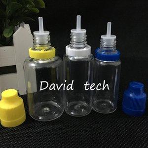 30 ml de DHL envío libre colorido de sabotaje cierre de evidencia y el Niño botella vacía Botellas Prueba 1OZ Liquid E plástica del cuentagotas con consejos fina larga