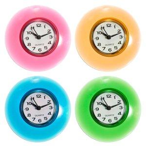 Silicona Baño Cocina Ducha Succión Reloj de pared Multicolor Resistente al agua Temporizador Vidrio Pared Ventana Espejo Ducha Reloj