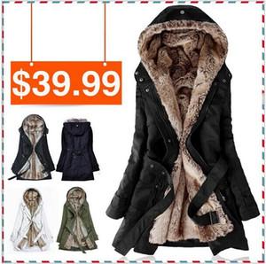 Toptan-Sıcak Ücretsiz kargo Faux kürk astarlı kadın kış sıcak uzun kürk ceket pamuklu giysiler kürk Hoodies Bayanlar coats toptan