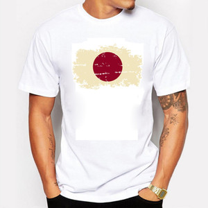 2016 sommer Japan Flag Mens T shirts Klassische Casual Fußballfans Nostalgie Japan Flag Style Brasilien Rio Spiele jubeln T-shirts