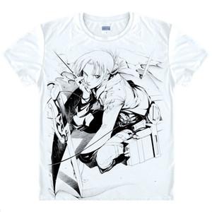 Attack on Titan Mikasa Ackerman Man's T-shirt da uomo Anime Shirt Cute Girls 'Dress Polo da donna T-shirt