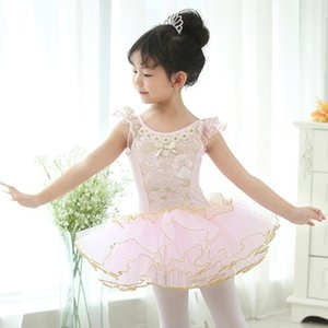 Free ship children black pink lace embroidery princess ballet leotard dance dress fairy tale dress for party festival stage performance