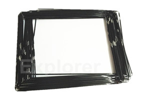 Quadro moldura média New Plastic Mid Original com adesivo preto Branco para iPad 2 3 4 quadro moldura 50pcs Lot