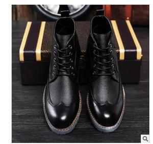 Marke Luxus Herren Kleid Stiefel Aus Echtem Leder Hohe Qualität Stiefeletten Männer Schuhe für Geschäfts Echtes Leder Herren Kleid Schuhe 8955