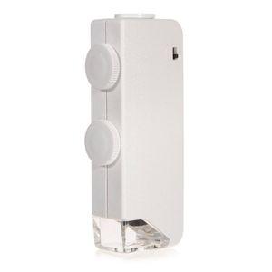 الجملة ذات جودة عالية المصغرة المحمولة 160X - 200X التكبير LED المضاء لمجهر الجيب العدسة المكبرة وصول جديد