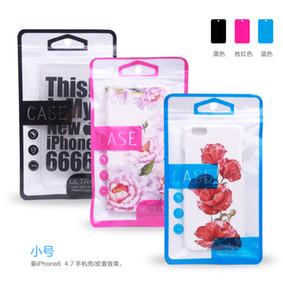 300pcs 아이폰 5s 6 6plus 전화 케이스에 대 한 도매 슈퍼 보호 지퍼 플라스틱 소매 포장 가방