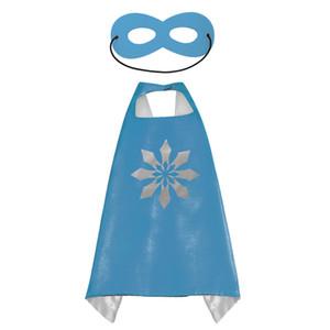 Superheld Kids Capes Doppelschichten 70 * 70 cm Satin Cape Weihnachten Halloween Kostüme Cosplay Kleidung Cosplay Capes Und Maske Party Kostüme