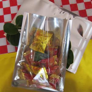 50 teile / los 30 cm * 40 cm * 160 mikron Halb Klar + VMPET Plastiktüte Einzelhandel Verpackung Heißsiegel Tasche Großhändler