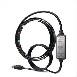 3016 الوافدين الجدد RGB 100CM USB الصمام الخفيفة قطاع DC5V TV خلفية إضاءة كوتابل مقاوم للماء مع USB كيبل 30LEDs 5050 قطاع الإضاءة الخلفية