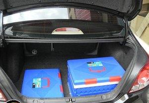 20pcs 45L grande pieghevole scatola di immagazzinaggio di immagazzinaggio di tronco di plastica scatola di immagazzinaggio di campeggio pieghevole scatole di finitura 3 colori