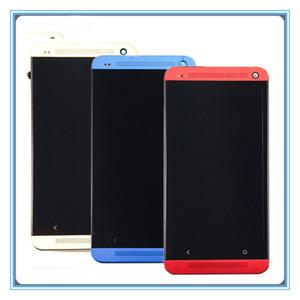 Um visor LCD +++ qualidade de único SIM Para HTC One M7 Toque 801s 801e LCD Tela Painel digitador completa Assembléia + Quadro moldura frete grátis