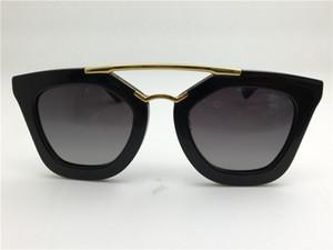 New Spr Sunglasses 09q Cinema óculos de sol Revestimento Espelho Lente Lente Polarizada Vintage Estilo Retro Quadrado Quadrado Ouro Mulheres Designer