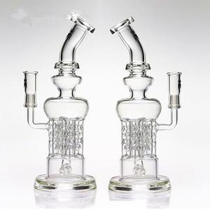 Hitman style complex design leisure glass bong swiss pillar can matrix perc glass water pipes fab egg oil rigs glass bong hookah