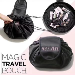 كوريا حقيبة مستحضرات التجميل vely كسول vely قدرة كبيرة الرباط مستحضرات التجميل حقيبة التخزين ضروري السفر قطعة أثرية
