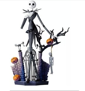 SCI-FI Revoltech Series NO.005 Jack Skellington PVC Action Figure Collectible Model Toy 18cm Free Shipping