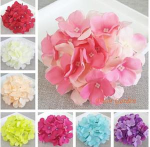 Incrível colorido flor decorativa casamento festa de luxo artificial hydrangea diy decoração floral para casa para 157
