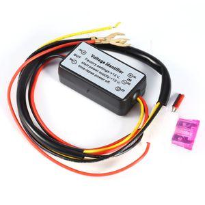 2017 Nova DRL Controlador Auto Car LED Daytime Running luz Relé Harness Dimmer On / Off 12-18V Fog Light Controller