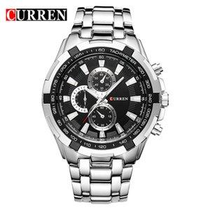 Curren 8023 кварцевые стали точность inveted Vogue бизнес Мужские кварцевые часы с 3atm водонепроницаемый челнок relogio