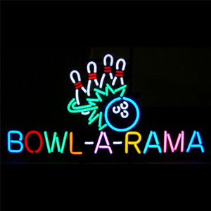 17*14 inches Bowl-a-rama Real Glass DIY LED Neon Sign Flex Rope Light Indoor Outdoor Decoration RGB Voltage 110V-240V