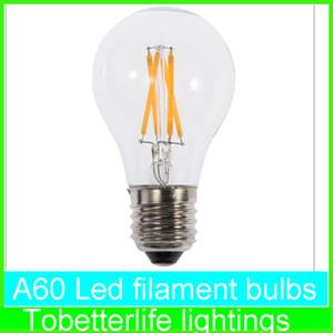 قاد E27 خيوط الضوء A60 A19 A60 المصابيح E27 B22 8W 6W 4W 2W 360 زاوية بقيادة أضواء إديسون مصباح AC85 ~ 265V CE بنفايات