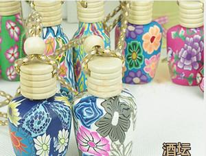 15 ml Car hang décoration Céramique essence huile Bouteille de parfum Hang corde vide bouteille