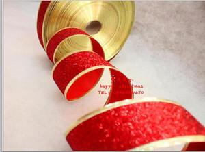 Noel renk şerit soğan tozu Noel kırmızı renk şerit şerit ilmek şerit 200 * 5 cm diy şerit chfistmas süslemeleri