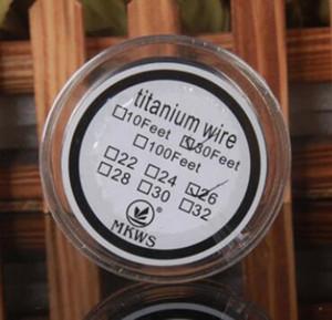 bobine mèche vape métallique en titane fil Vaporizer mods de contrôle de la température 24 26 28 30 30 AWG Pieds de calibre chauffage de titane de résistance e CIGS