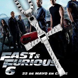 The Fast and the Furious necklace Toledo Crystal Christian Cross Pendant Necklaces Jesus charm movie jewelry for Christmas gift